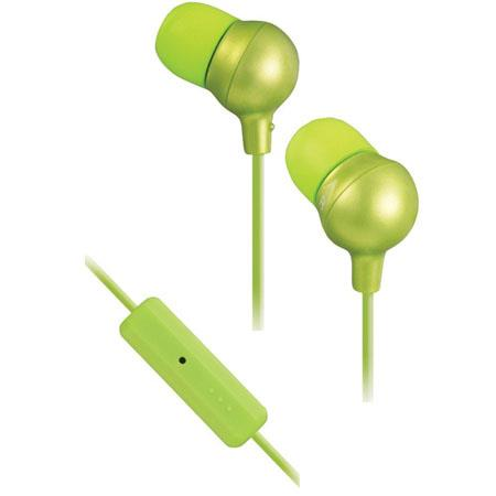JVC HAFR36G Marshmallow In-Ear Headphones with Microphone and Remote, Green