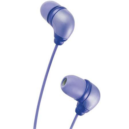 """JVC In Ear """"Marshmallow"""" Headphone Set with 3' Cord, Color: Violet image"""