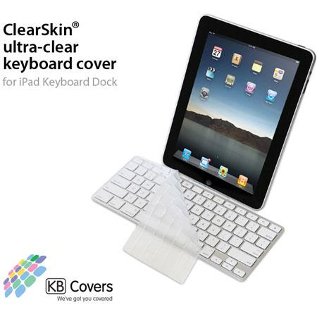 KB Covers ClearSkin Ultra-Clear Keyboard Cover for iPad Keyboard Dock