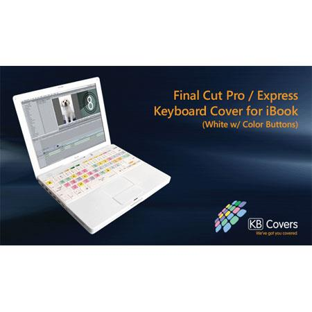KB Covers Final Cut Pro/Express Keyboard Cover for iBook, White