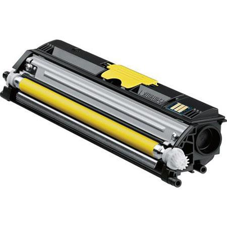 Konica Minolta A0V306F Yellow High-Capacity Toner Cartridge for Magicolor 1600W/1650EN/1680MF/1690MF Printers