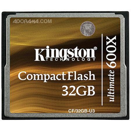 Kingston Technology 32GB CompactFlash Ultimate 600x Memory Card image