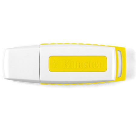 Kingston 8GB DataTraveler I Generation 3 USB 2.0 Flash Drive, White and Yellow image
