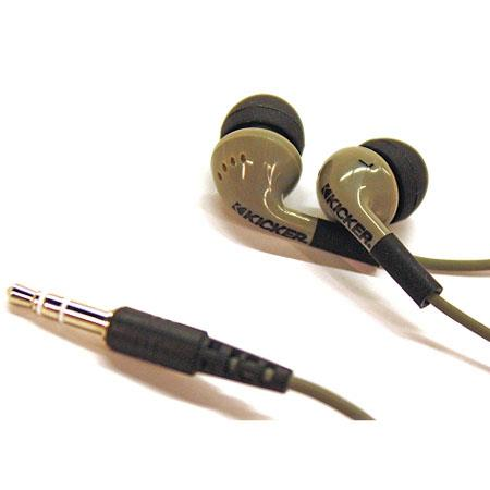 Kicker EB71 Gray Noise-Isolating In-Ear Headphones image