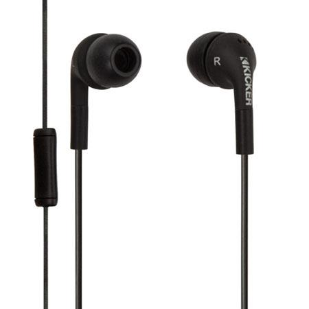 Kicker In-Ear Stereo Headset with Microphone, Black
