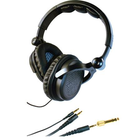 Kicker DJ-style Headphones HP541, Frequency Response 18Hz-21kHz with Over-ear Full-swivel Cups and Interchangeable Cables - Black