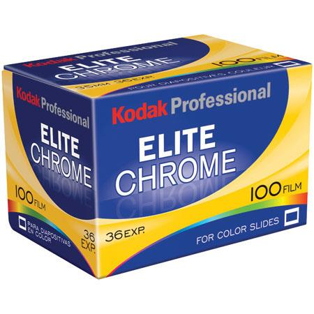 Kodak Elite Chrome EB 100 Color Slide Film ISO 100, 35mm Size, 36 Exposure, Transparency, *USA* image