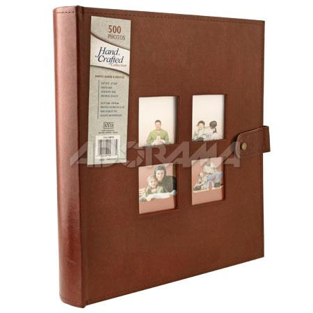 "Kleer-Vu Photo / Memo Album, Heavy Bonded Leather Collection, Brown, Holds 500 4"" x 6"" Photos, 5 Per Page. image"