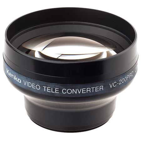 Kenko 2x HI Resolution Telephoto Lens for DV Camcorders, fits 49, 52 & 55mm