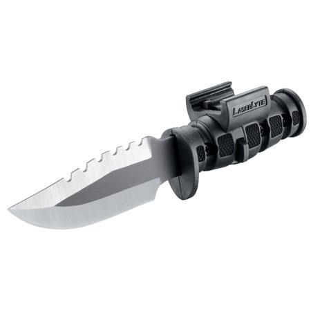 LaserLyte Mini Survival Pistol Bayonet, Fits any Medium to Large Pistol with Rails.