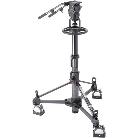 Libec RSP-750PD(S) Professional Pedestal System for Studio Broadcasting with RHP75 Head, P110 Pedestal, Extra PH-8B Handle,...