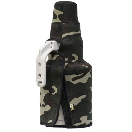 LensCoat TravelCoat Cover for Canon 500 f/4 IS II Lens with Hood, Forest Green Camo
