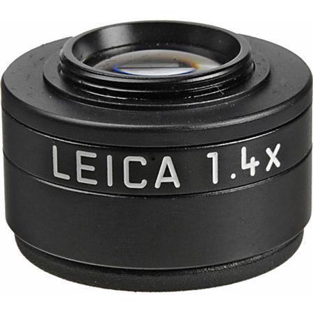 Leica Viewfinder Magnifier 1.4x, Magnifies the Viewfinder Image By 40%, Black image