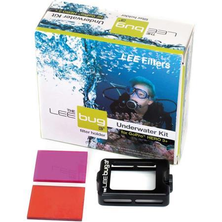 Lee Filters Bug 3 Underwater Kit for GoPro HERO3+, Includes LEE Bug Holder, Blue Water Filter (Red), Green Water Filter...