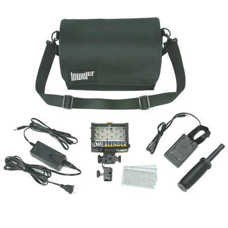 Lowel Blender 120V 240V AC/DC Kit with Panasonic Camcorder Battery Sled