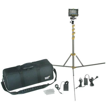 Lowel Blender 120-240V LED 1-Light Kit with Canon Camcorder Battery Sled