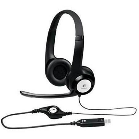 Logitech ClearChat Comfort USB Headset with Noise-Canceling Microphone for Windows and Mac
