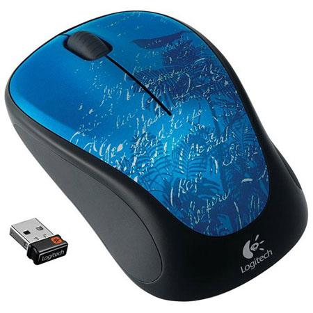 Logitech M315 Wireless Mouse, 2.4 GHz Wireless Connectivity, USB Wireless Receiver, Indigo Scroll