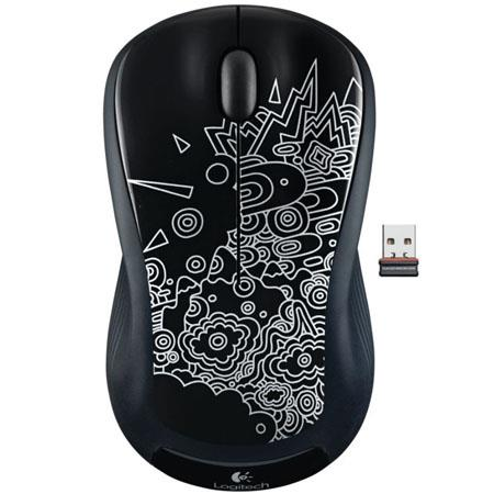 Logitech M310 Wireless Mouse, 2.4GHz Wireless Connectivity, USB Interface, Black