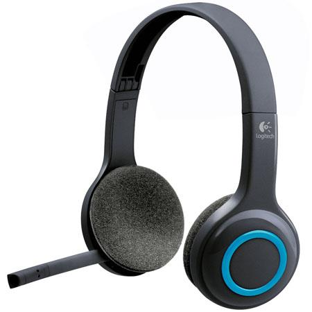 Logitech H600 Wireless Over-The-Head Headset, Noise Cancelling Microphone, Blue/Black