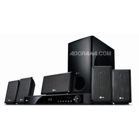 LG LHB335 Network Blu-ray Home Theatre System, 5.1ch, 1000W, 1 Disc BD HTS, 5 Satellite Square Speaker, Netflix HD, iPod Direct Docking, Pandora Ready image