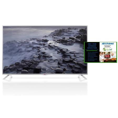 """LG Electronics 47LB5800 47"""" Class Full HD 1080p LED Smart HDTV, MCI 120, 8 Picture Modes, Built-in Wi-Fi, - Bundle with New Leaf 1 Year Extended Warranty,"""