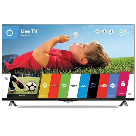 """LG Electronics 49UB8500 49"""" Class Smart TV with WebOS 3D Ultra HD, 4K Resolution, 120Hz Refresh Rate, 4xHDMI/3xUSB, 2 Pairs 3D Glasses Included"""