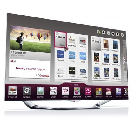 LG 55-inch LED TV - LA8600 1080P 240Hz 3D Cinema Smart HDTV with Magic Remote and 6 pairs 3D Glasses