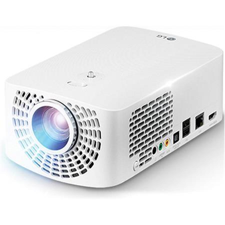 LG Electronics PF1500 Full HD Smart LED Portable DLP Projector, 1920 x 1080, Up to 1400 Lumens, 2x HDMI/USB, Magic Remote