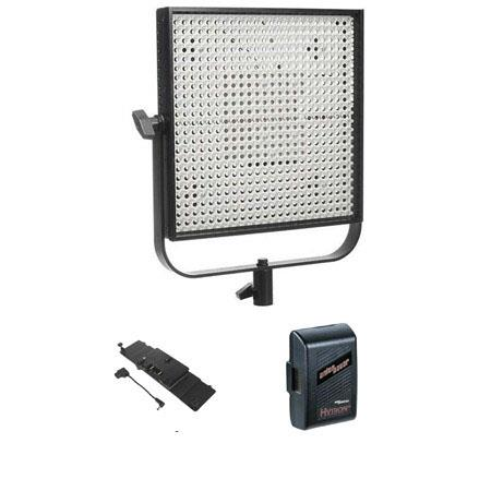 Litepanels 5600K LED 1x1' Spotlight - Bundle - with Litepanels Adapter Plate for Anton Bauer Gold Series Batteries, Anton Bauer Logic Series NMH Battery