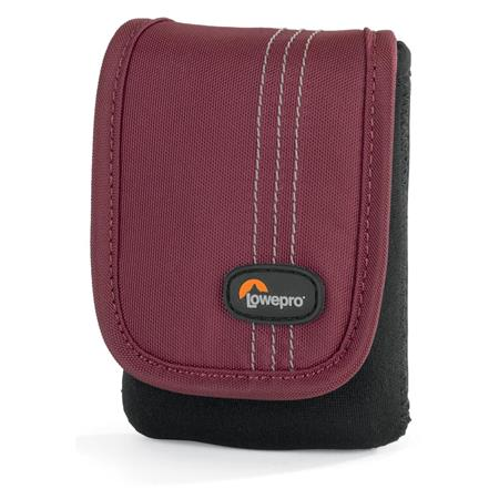 Lowepro Dublin 10 Camera Pouch for Ultra-Compact Point/Shoot Camera /Camcorder, Black/Bordeaux Red
