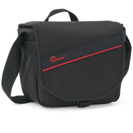 Lowepro Event Messenger 100 Shoulder Bag, Black/Red