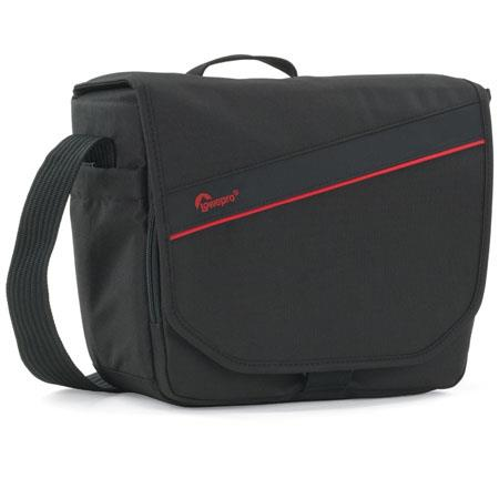 Lowepro Event Messenger 150 Shoulder Bag, Black/Red