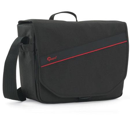 Lowepro Event Messenger 250 Shoulder Bag, Black/Red