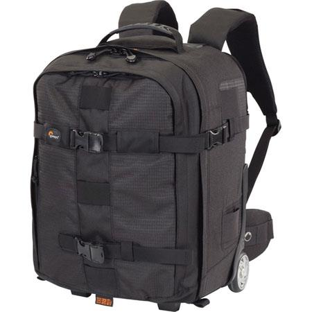 "Lowepro Pro Runner X350 AW Photo Rolling Backpack for DSLR with Grip & 70-200 f/2.8 Attached Lens, 15.4"" Laptop & Accessories - Black image"