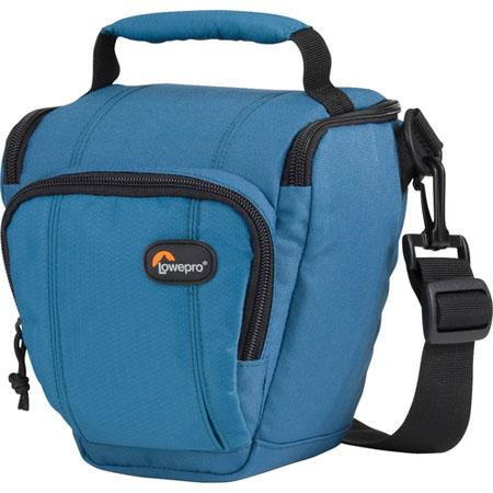 Lowepro Toploader Zoom 45 AW Bag for D-SLR Camera with Attached Lens (up to 18-55mm f/3.5), Sea Blue image