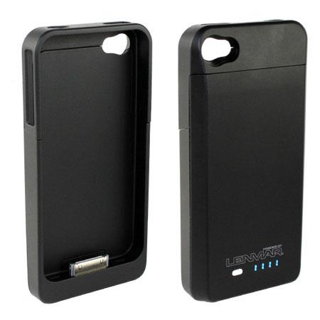 Lenmar BC4 iBatteryCase for iPhone 4 - Protective Case & 1700mAh internal Lithium-Polymer Battery / Battery Charger, with Micro USB cable for sync & cha
