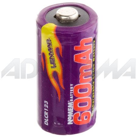 Lenmar CR123 Battery, 3.0 volt Lithium-Ion Rechargeable Battery, 600mAh.