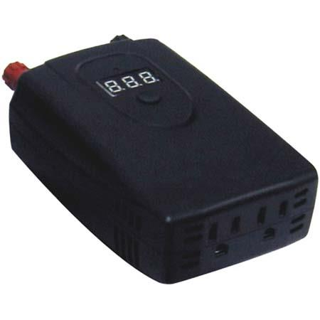Lenmar N-Verter 450 watt Maximum, 400 watt Continuous Compact DC to AC Power Inverter with Digital Display & Clip Leads.
