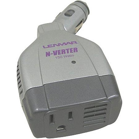 Lenmar N-Verter 150 watt Maximum, 140 watt Continuous Compact DC to AC Power Inverter with Swivel Head.