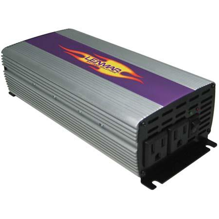 Lenmar N-Verter 1000 watt Maximum, 900 watt Continuous High Output DC to AC Power Inverter with Aluminum Chassis & Clip Leads.