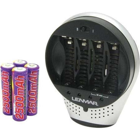 Lenmar Pro-30 30 Minuite AC/DC 110/240 Charger for AA / AAA NIMH Batteries, with 4 2500Mah NIMH AA Batteries, with DC Adaptor