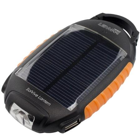 Lenmar SolVive Lantern SOLV17 Portable Battery & Charger, Lantern with Solar Charge Capabilities, 1700mAh, 5-Volt