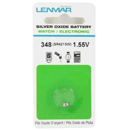 Lenmar WC348 Silver Oxide Battery 1.55V / 12 mAh - Replaces SR421SW Watch Battery