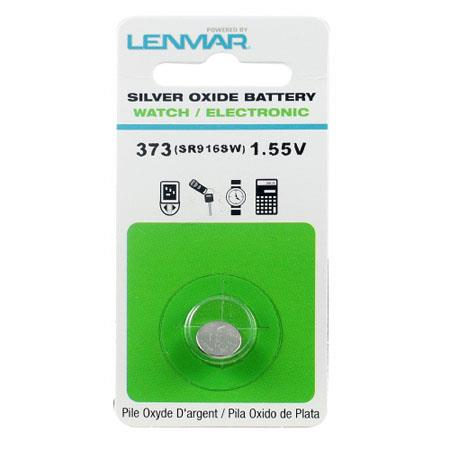 Lenmar WC373 Silver Oxide Battery 1.55V / 26 mAh - Replaces SR916SW Watch Battery