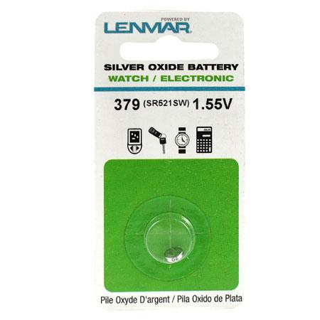Lenmar WC379 Silver Oxide Battery 1.55V / 16 mAh - Replaces SR521SW Watch Battery