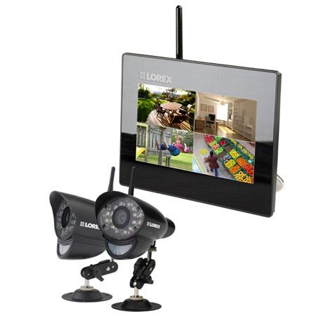 Lorex Digital Wireless Security System with LCD Picture Frame Monitor and Two Cameras