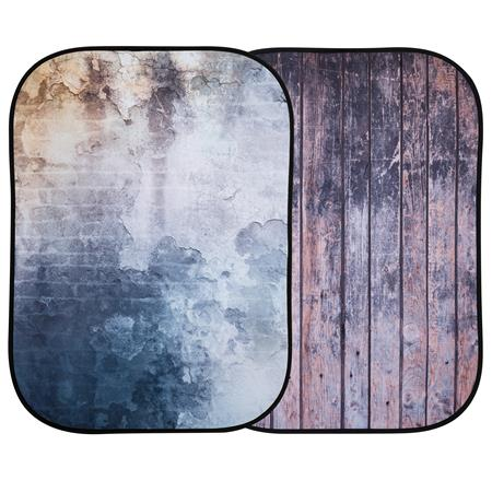 Lastolite Urban Collapsible 5'x7' Derelict Wall/ Wooden Fence Collapsible Background