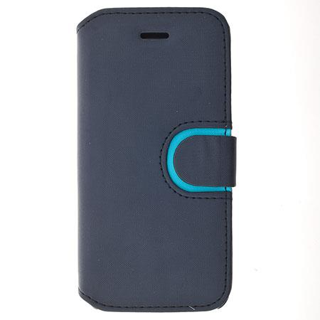 Lax Gadgets Premium Leather Folio for iPhone 5, Blue