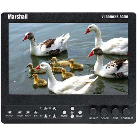 "Discount Electronics On Sale Marshall 7"" High Brightness Field/Camera-Top LCD Monitor with Composite, Component, 3GSDI/SDI Inputs with V-Mount"